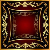 Frame with vegetable gold(en) pattern — Stock Vector