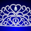 Beautiful diadem feminine wedding on we turn blue - Imagen vectorial