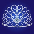 Diadem feminine wedding on we turn blue background - Image vectorielle
