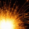 Sparking sparkler - Stock Photo