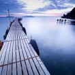 Empty pier at dawn — Stock Photo