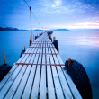 Jetty at dusk — Stock Photo