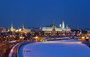 Russia, Moscow, night view