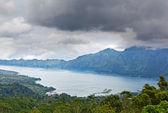 Paisagem do vulcão batur, na ilha de bali, indonésia — Foto Stock
