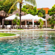 Swimming pool in hotel in tropics — Stock fotografie #10284618