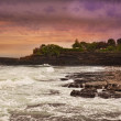 Sunset on the bank of the Indian Ocean, Bali, Indonesia — Stock Photo #10284624