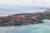 View of Nusa-Duah's region of the island of Bali from height of bird's flight — Stock Photo