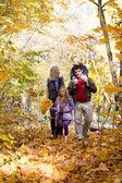 Park aile zevk yürüyüş — Stok fotoğraf