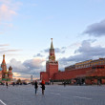 Red square near Kremlin wall — Stock Photo #8905664