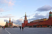 Red square near Kremlin wall — Stock Photo