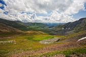 Top view of Karakol lakes in Altai mountains — Stock Photo