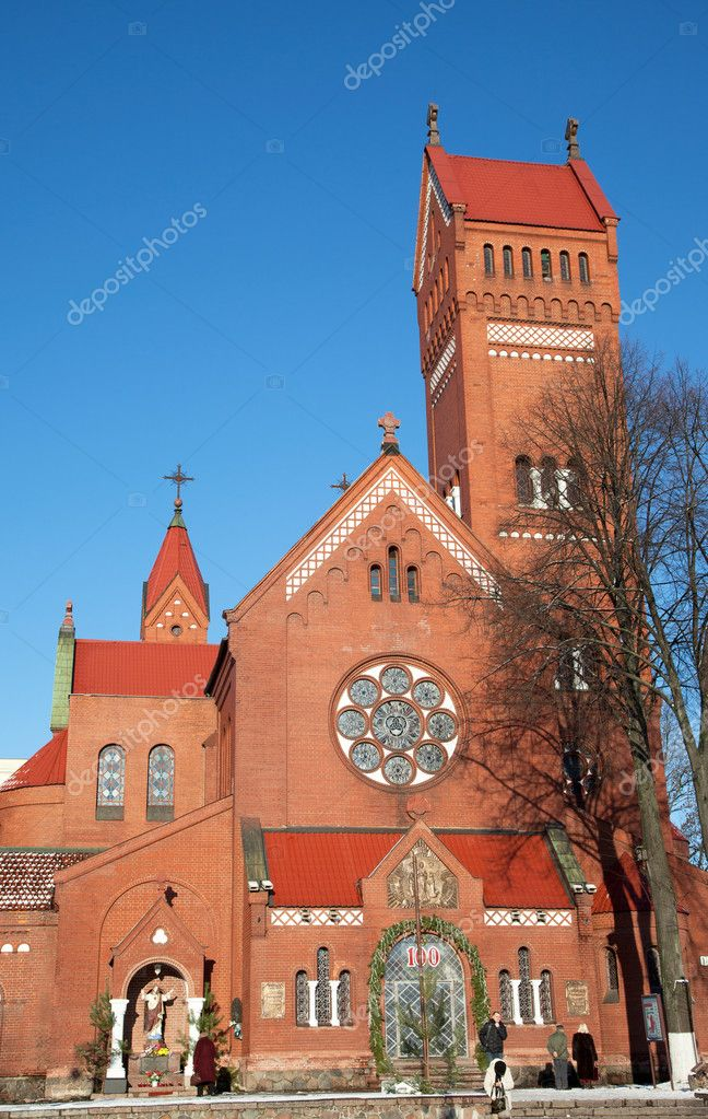Catholic chapel St Simon and St Elena. Minsk. Belarus.  Stock Photo #9034580