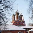 beautiful orthodox church in the ancient russian city of yaroslavl — Stock Photo