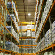 Large modern empty storehouse — Stock Photo
