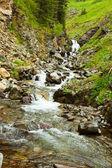 Mountains stream through rocky Altai mountains — Stock Photo