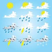 天气符号 — 图库矢量图片