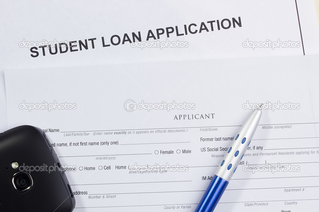 Directly above photograph of a student loan application. — Stock Photo #10287425