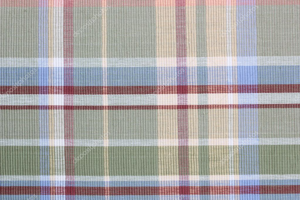 Directly above photograph of a kitchen tablecloth as a background.  Stock Photo #10287726