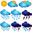 Symbols for weather forecasters — Stock Vector #10362169