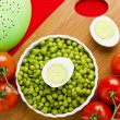 Royalty-Free Stock Photo: Eggs, Peas, and Tomatoes