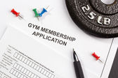 Gym Membership Application — Stock Photo