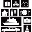 Royalty-Free Stock Vector Image: Set of wedding icons