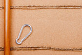 Rope and Carabiner — Stock Photo