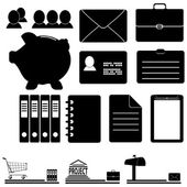 A set of business icons — Stock Vector