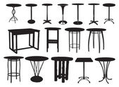 A set of bar tables — Vector de stock
