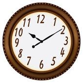 El reloj en un marco circular — Vector de stock