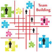Team Building — Stock Vector