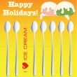 Happy Holidays — Stock Vector