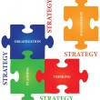 Strategy Jigsaw Puzzle — Stock Vector