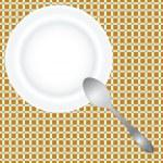 Постер, плакат: Deep dish and spoon