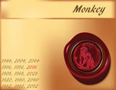 Year of Monkey - background — Stock Vector