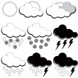 Symbols for weather forecasters — Stock Vector #9585369