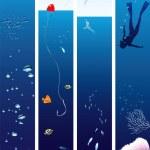 vie marine — Vecteur