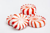 Red Striped Peppermints — Stock Photo