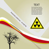 Background radiation waste — Stock Vector