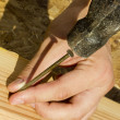 Stock Photo: Hammering Nail