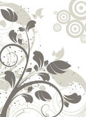 Abstract floral background — Vecteur