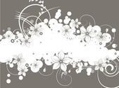 Abstract floral background — Stockvector