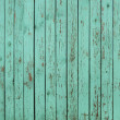 Green wooden fence background — Stock Photo