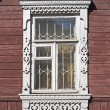 Stockfoto: Window in old wooden house