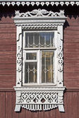 Window in old wooden house — Stock Photo