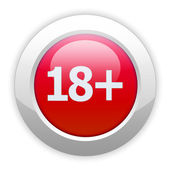 Eighteen plus button — Foto de Stock