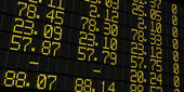 Stock exchange board — Stock Photo