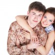 Stock Photo: Loving couple embracing