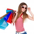 Young woman holding shopping bags — Stock Photo #8986875
