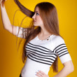 Woman with hair. problem? — Stock Photo